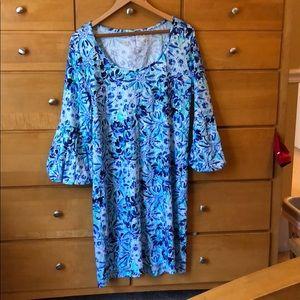 Lilly Pulitzer Carlisle Dress XL NWOT iris blue